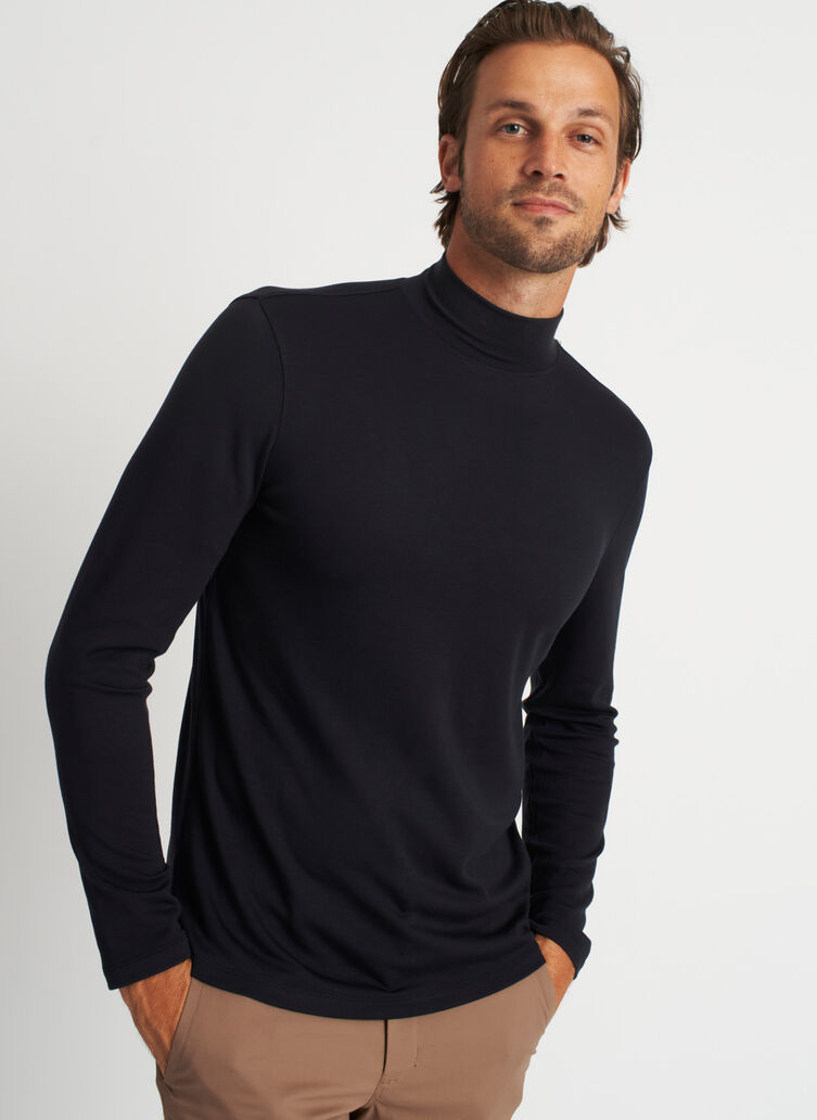 First Class Turtleneck, Black | Kit and Ace