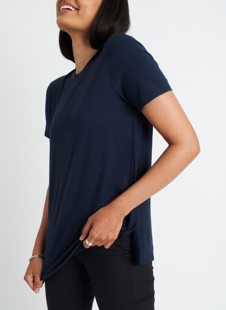 At Ease Tee, Dark Navy | Kit and Ace