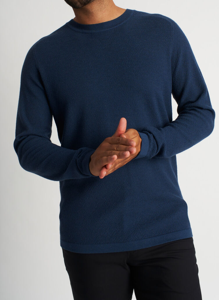 A to B Merino Sweater, Dark Denim | Kit and Ace