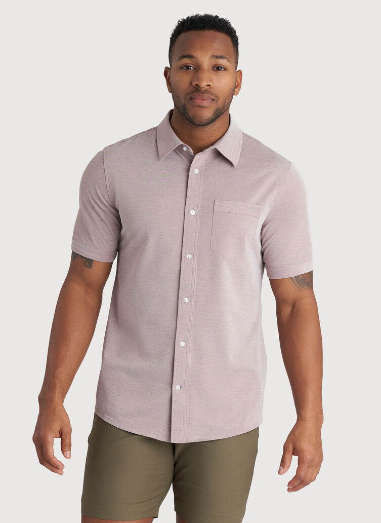 City Tech Classic Short Sleeve, Coffee Chambray | Kit and Ace