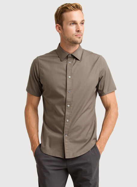 Blueprint Short Sleeve Button Up, Flint | Kit and Ace