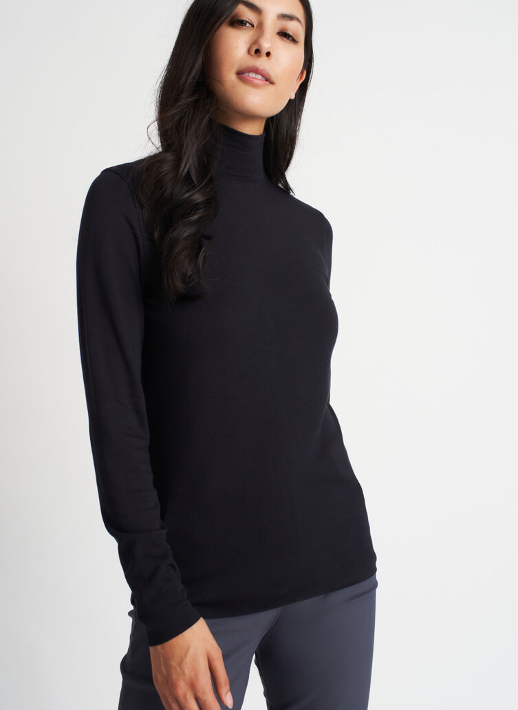 Upgrade Brushed Turtleneck, Black | Kit and Ace