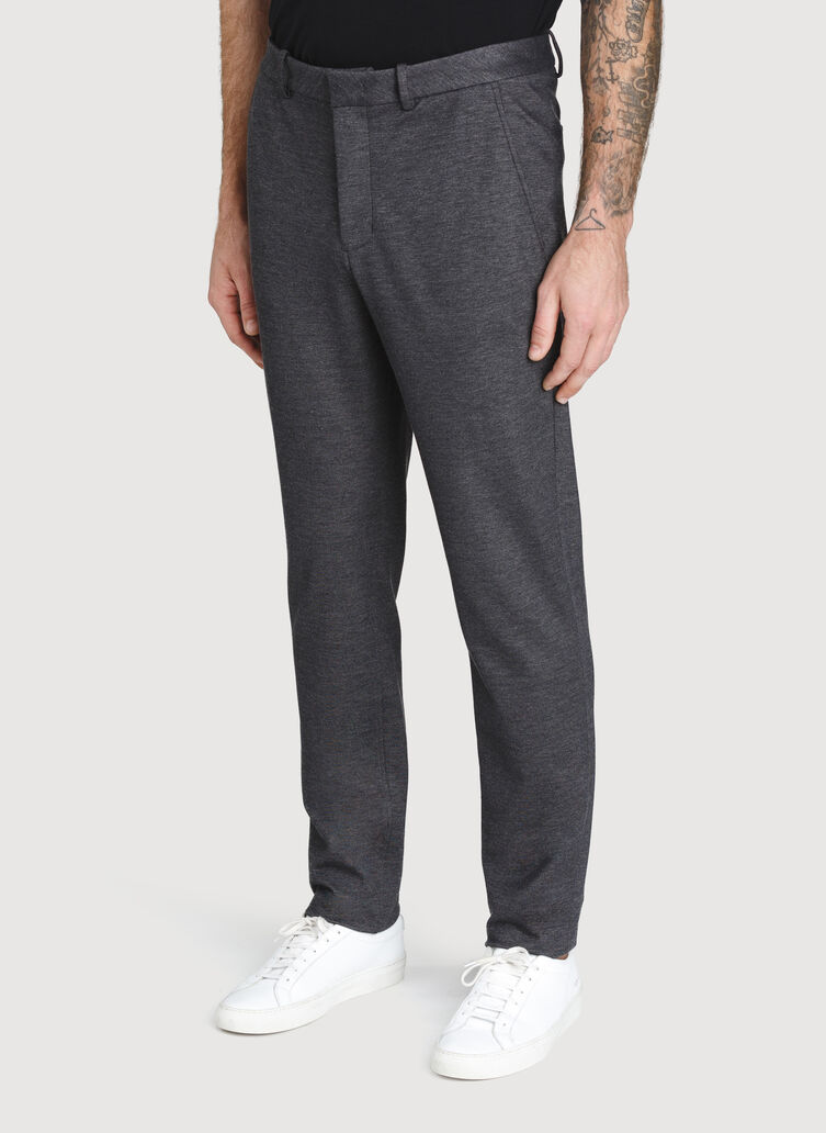 Comfort Office Pants, Charcoal Melange | Kit and Ace