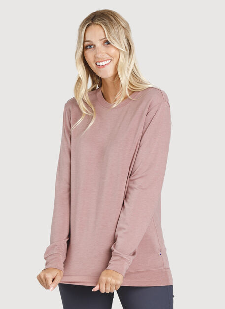 Weekend Pullover, HTHR Fawn | Kit and Ace