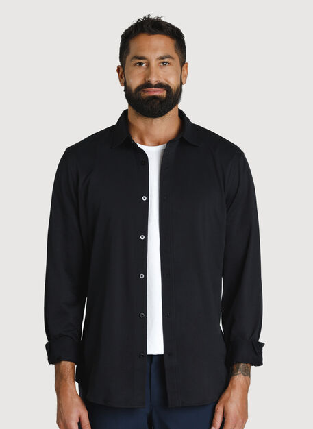 Court Stretch Long Sleeve, BLACK | Kit and Ace