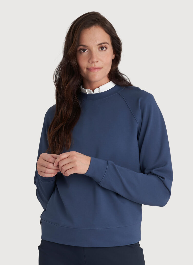 Made to Move Pullover, Dark Denim | Kit and Ace