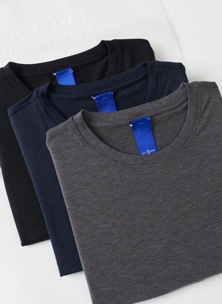 Kit Crew 3 Pack, Black/Heather Charcoal/Dark Navy | Kit and Ace
