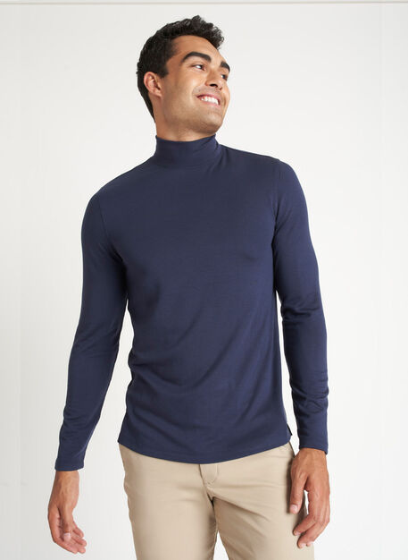 First Class Turtleneck, Dark Navy | Kit and Ace