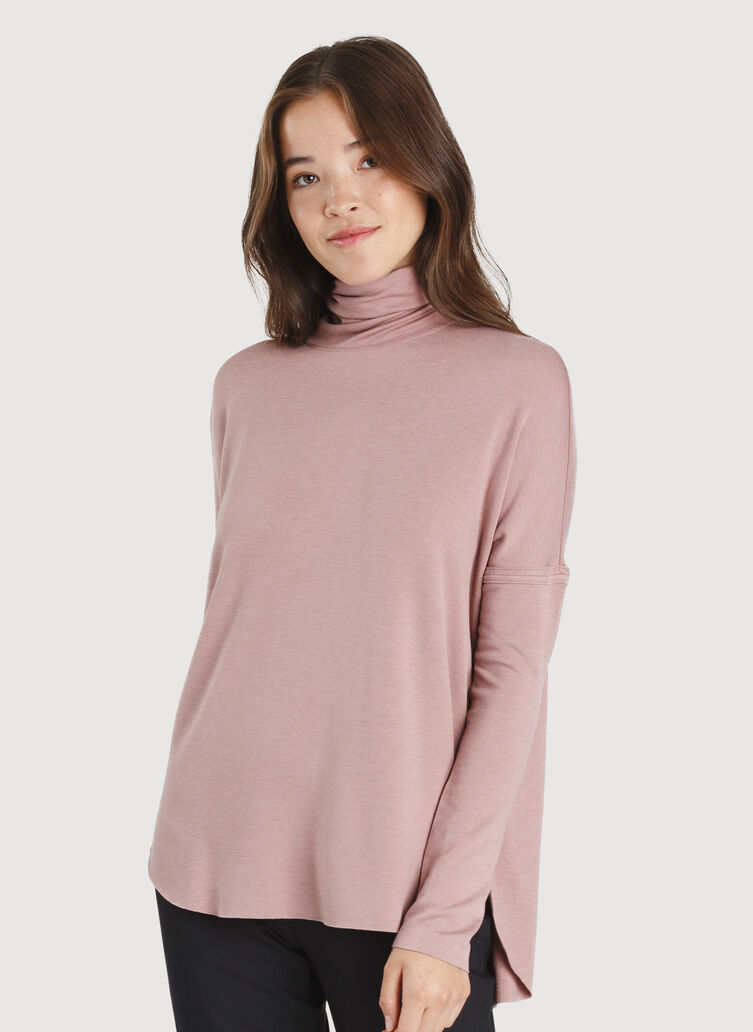 Burrow Turtleneck, Heather Fawn | Kit and Ace