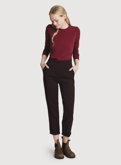 Mulberry Pant, HTHR Plum | Kit and Ace