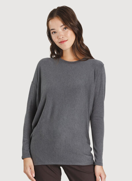 Wave Long Sleeve, Heather Charcoal | Kit and Ace