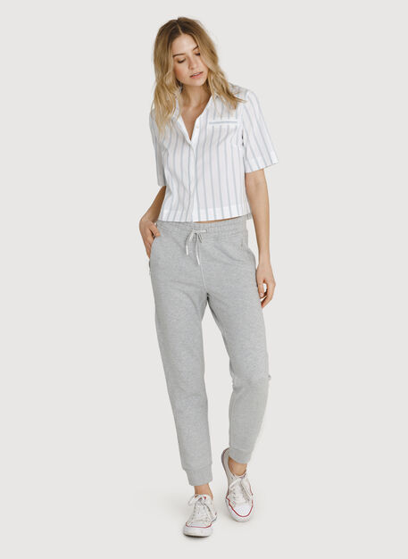 Terry Pull-on Pant, HTHR Metal | Kit and Ace