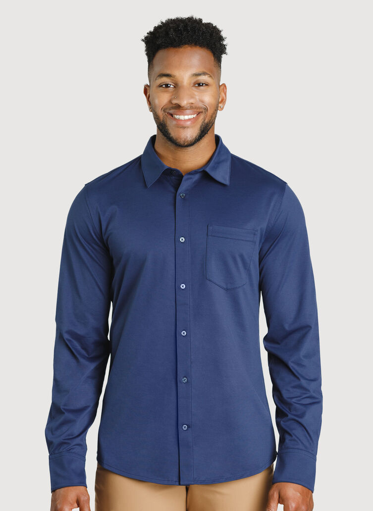 City Tech Classic Shirt, Deep Navy | Kit and Ace
