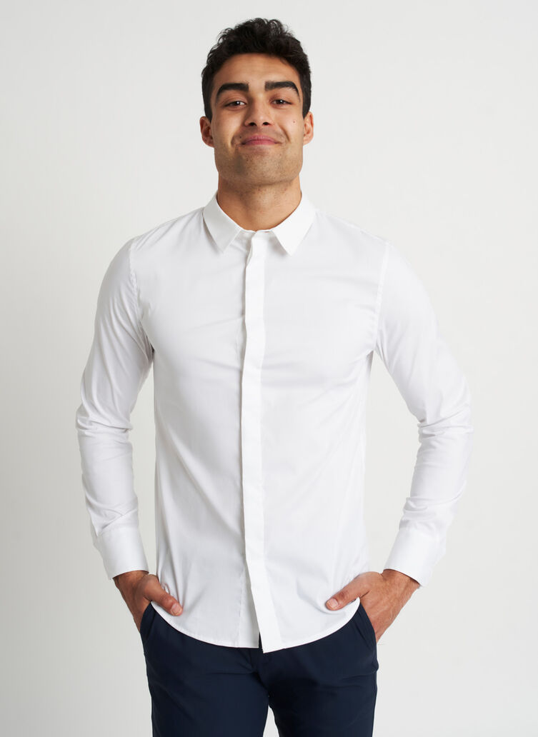 Stay Cool Shirt, Bright White | Kit and Ace