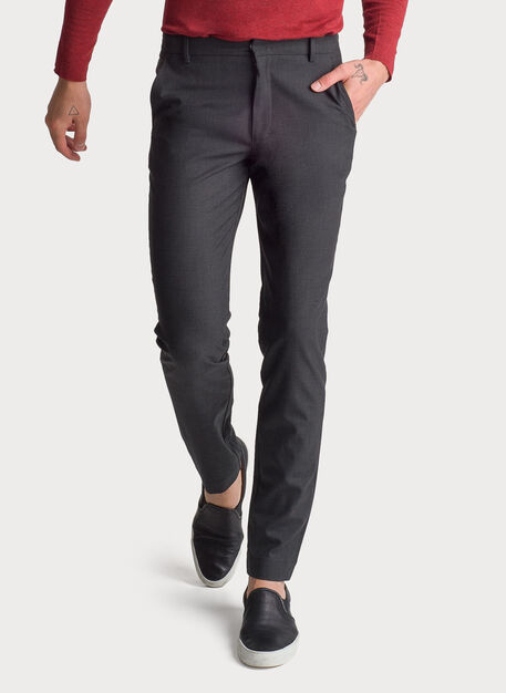 Fraser Stretch Trouser, HTHR Charcoal | Kit and Ace