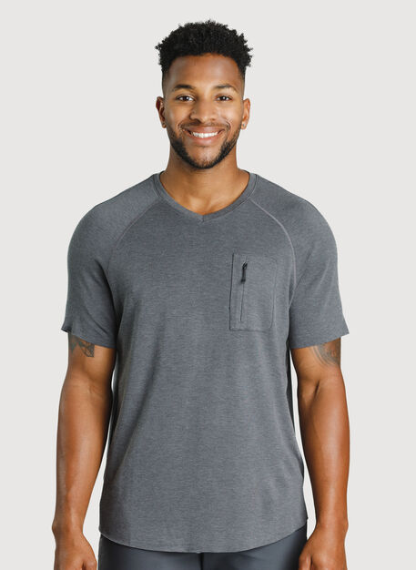 Chillin Tee, HTHR Charcoal | Kit and Ace