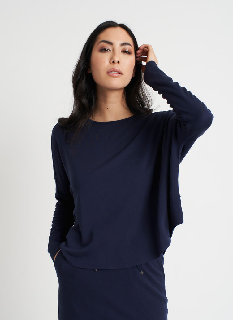 So Soft Pullover, Dark Navy | Kit and Ace