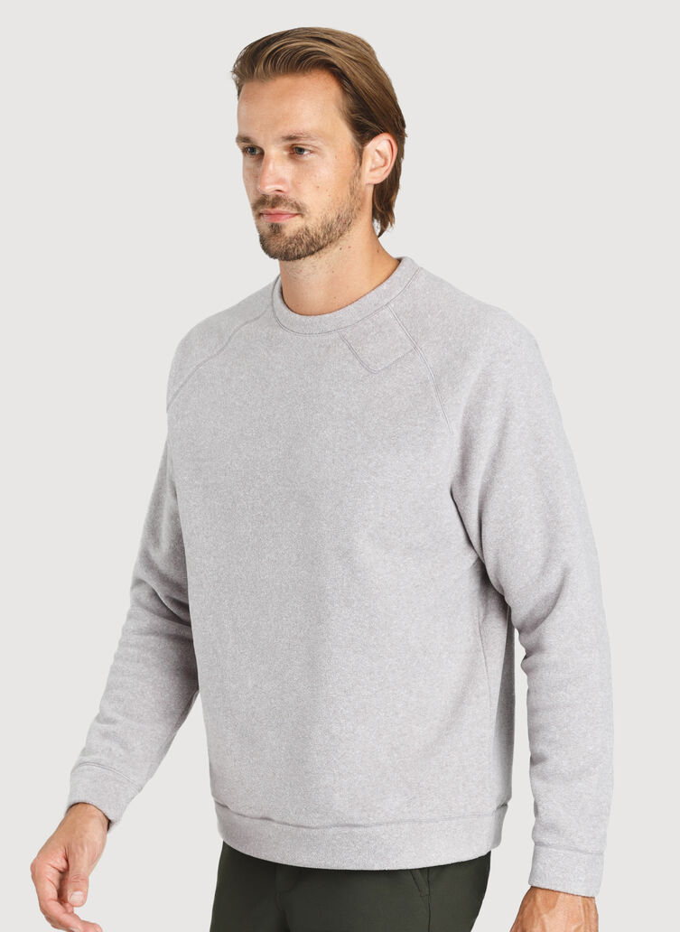 Snug Crewneck Sweater, Ash | Kit and Ace