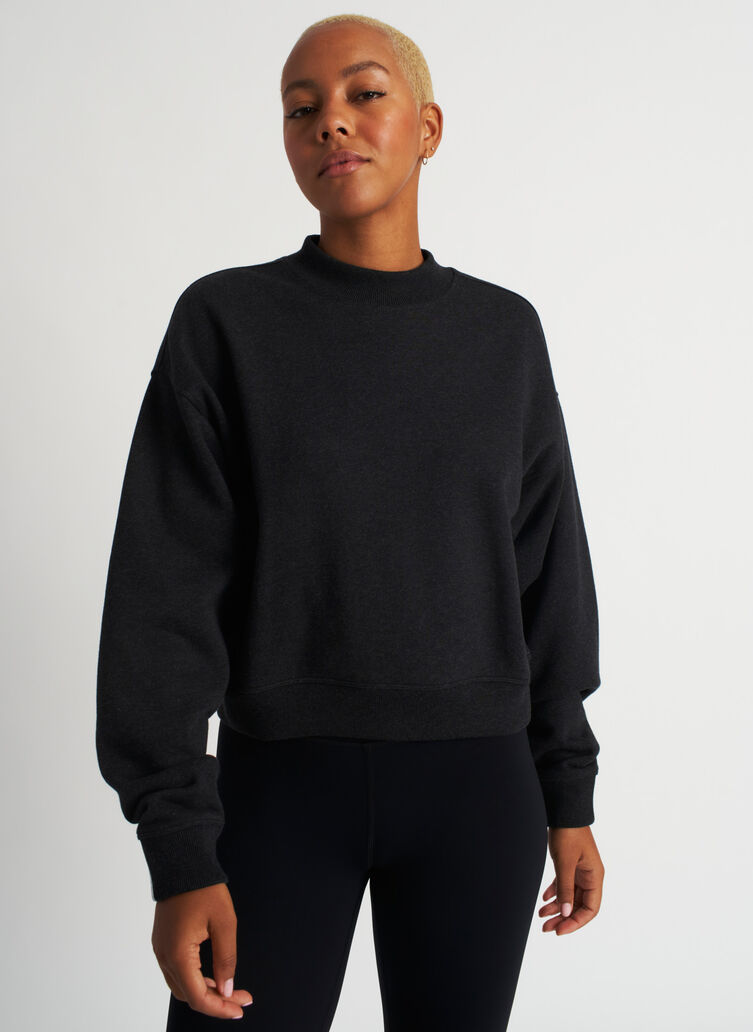 Pacific Coast Pullover, Heather Black | Kit and Ace