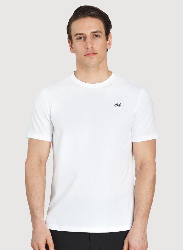 Motion Crew Tee, Bright White | Kit and Ace