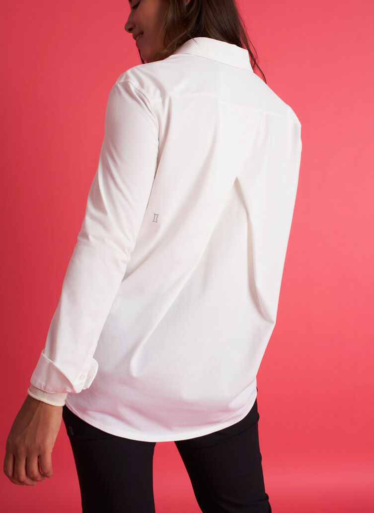 O.T.M. Pleated Button Up Shirt, Bright White | Kit and Ace