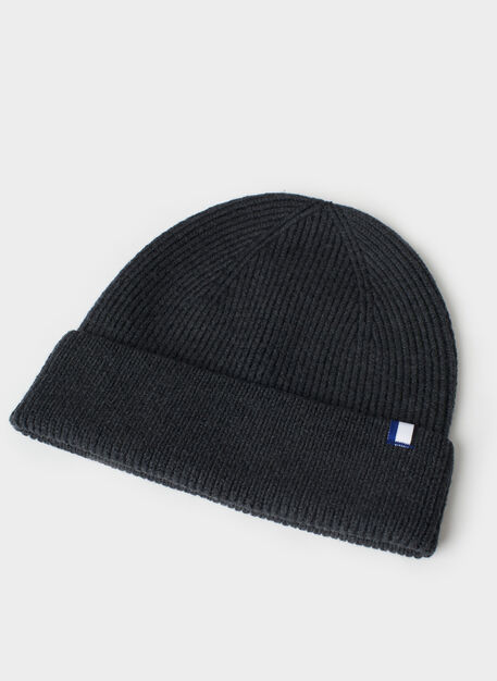 Cozy Merino Toque, Heather Charcoal | Kit and Ace