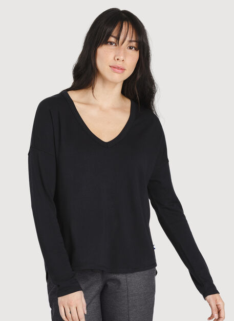Easy Long Sleeve, BLACK | Kit and Ace