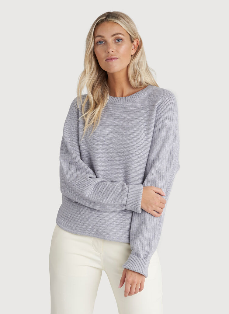 In the Clouds Sweater, Heather Flint Grey | Kit and Ace