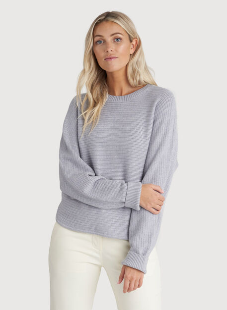 In the Clouds Sweater, HTHR Flint Grey | Kit and Ace