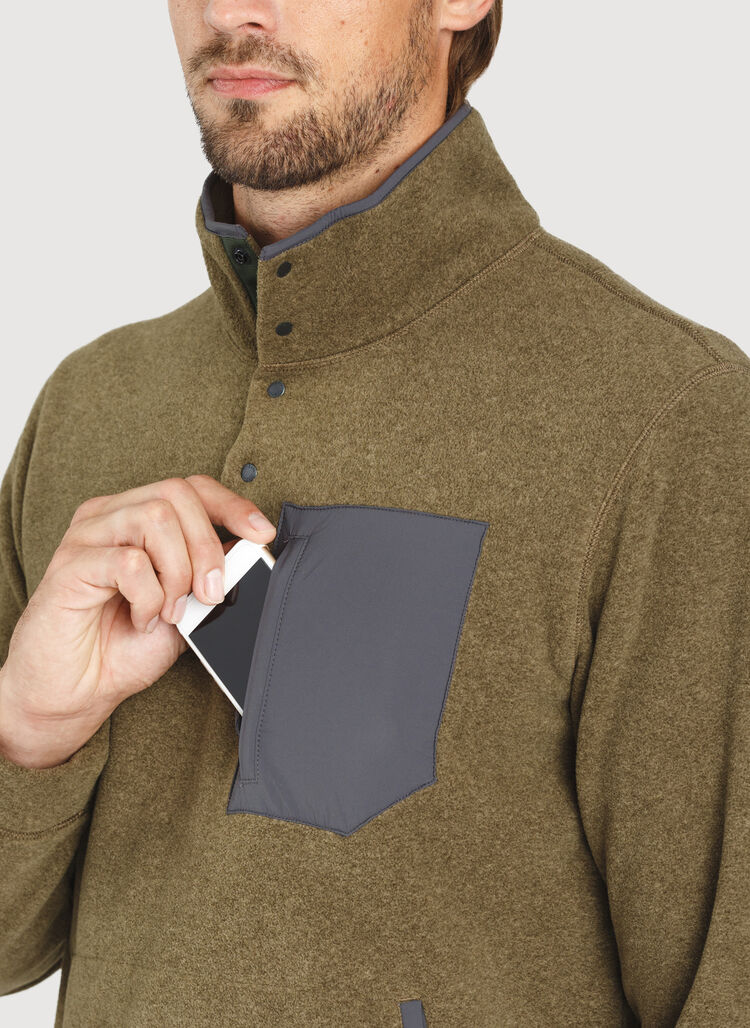 Snug Pullover, HTHR Moss | Kit and Ace