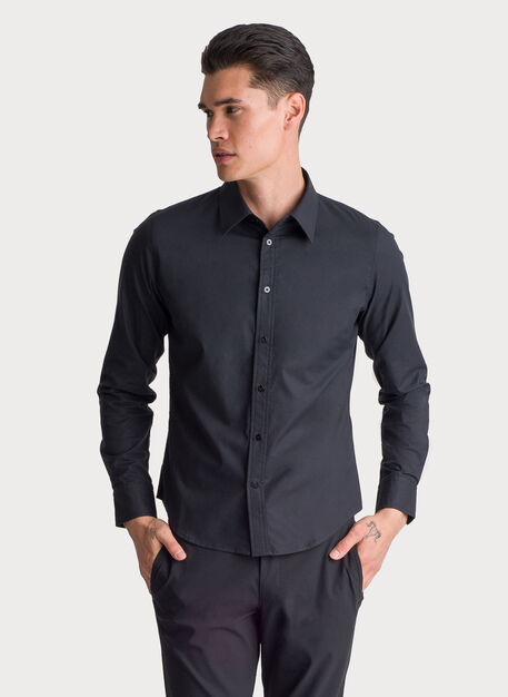 Blueprint Long Sleeve Button Up, BLACK | Kit and Ace