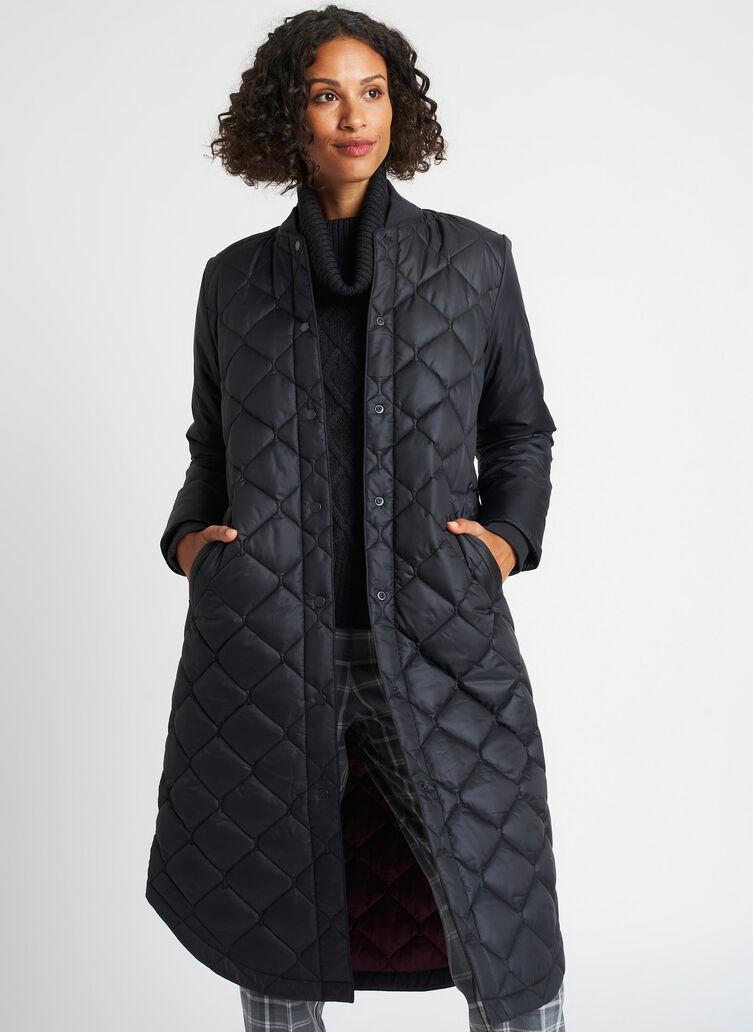 All Day Long Puffer Jacket, Black | Kit and Ace