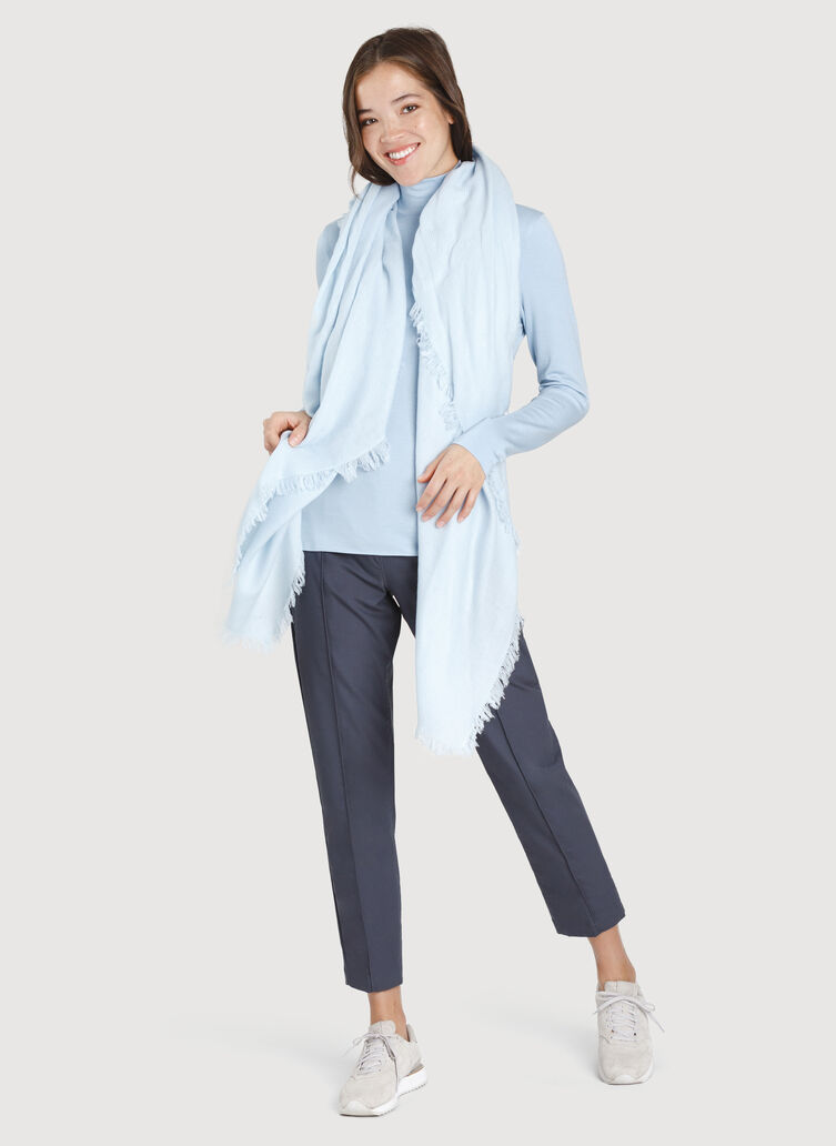 Blanket Scarf, Heather Celestial Blue | Kit and Ace