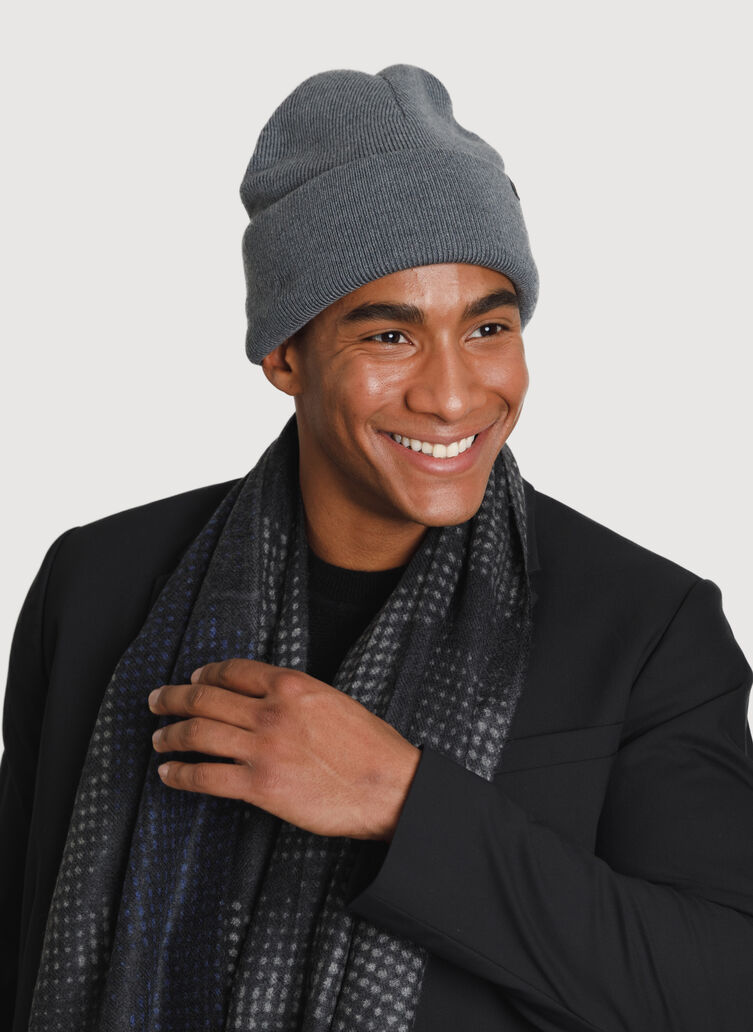 Reversible Merino Toque, HTHR Anchor Grey/Toffee | Kit and Ace