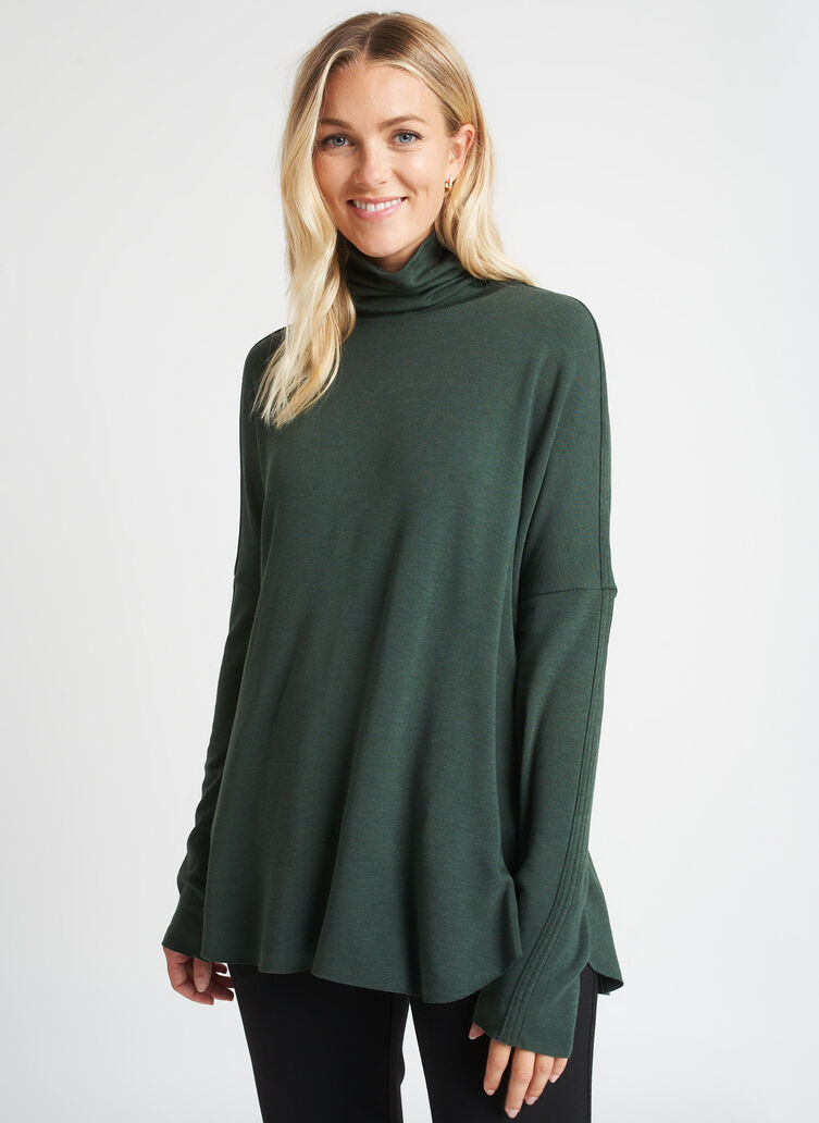 Burrow Turtleneck, Heather Forest | Kit and Ace