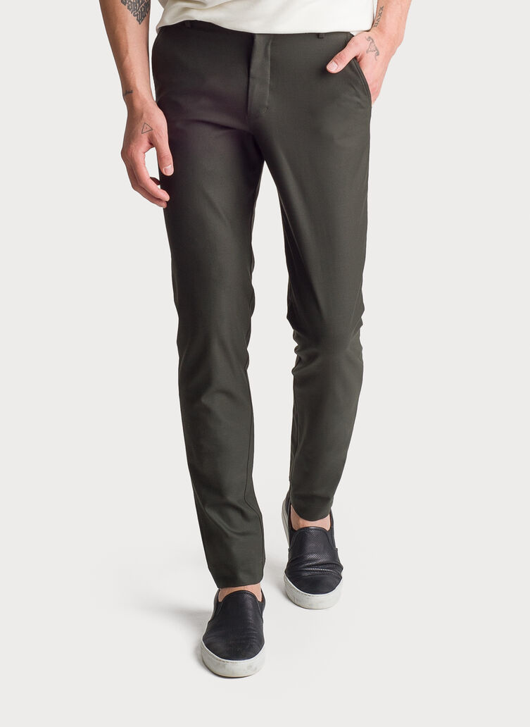 Fraser Stretch Trouser, HTHR Hunter | Kit and Ace