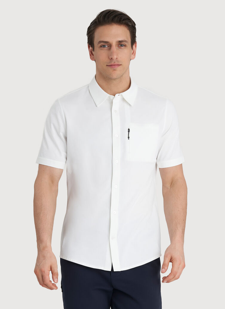 Geared Up Short Sleeve Shirt, Bright White | Kit and Ace