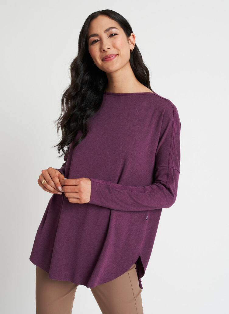 Burrow Pullover, Heather Plum   Kit and Ace