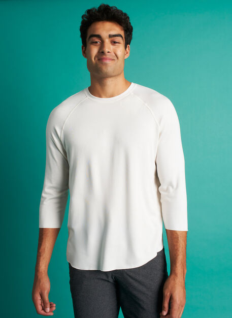The B.F.T.  Baseball Tee, Bright White | Kit and Ace