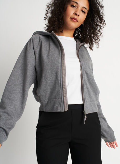 Pacific Coast Zip Up Hoodie, Heather Grey | Kit and Ace