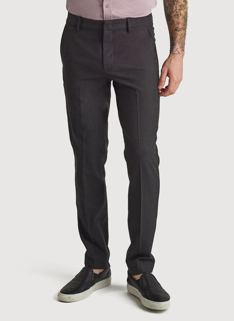 Stretch Suiting Pant, HTHR Charcoal | Kit and Ace