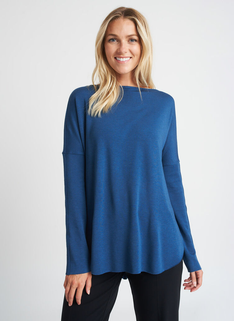 Burrow Pullover, Heather Night Blue | Kit and Ace