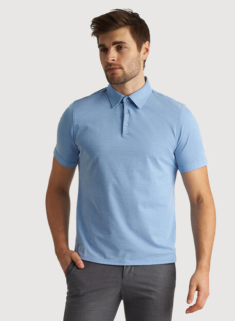 City Tech Polo, Iconic Blue Chambray | Kit and Ace