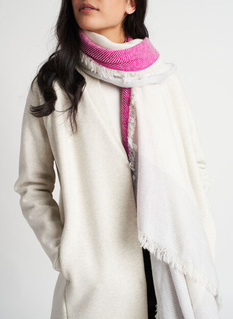 Blanket Scarf, Ecru/Heather Flint | Kit and Ace