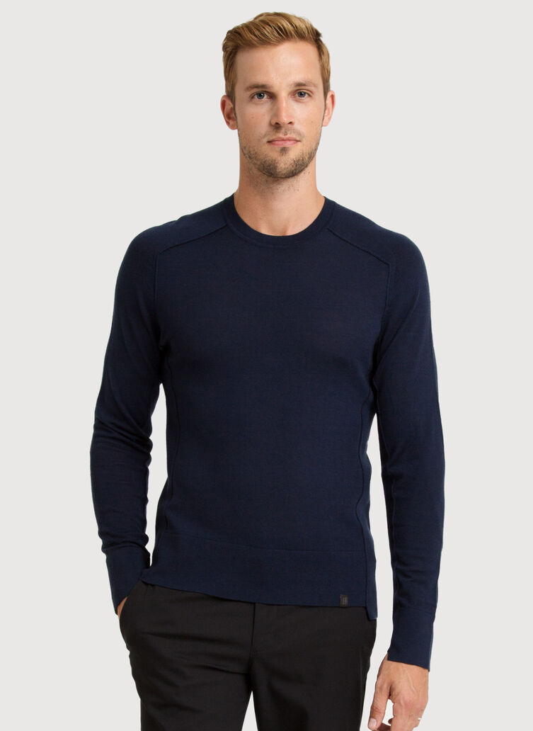 Merino Crew, Navy Blue | Kit and Ace