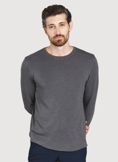 The B.F.T. Long Sleeve Crew, HTHR Charcoal | Kit and Ace
