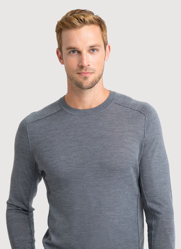 Merino Crew, HTHR Anchor Grey | Kit and Ace