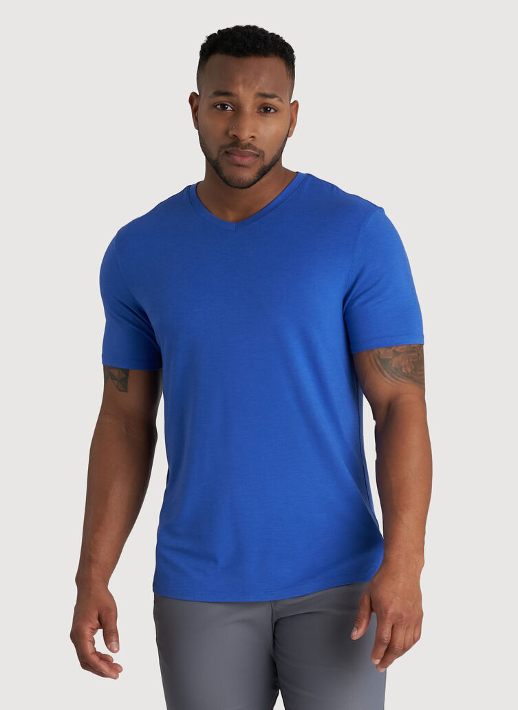 Ace V-Neck Tee, Ocean   Kit and Ace