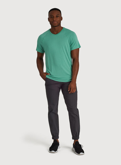 Ace Tech Jersey V Tee Relaxed Fit, HTHR Seafoam | Kit and Ace