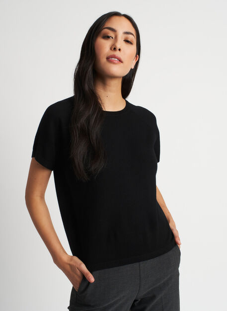 Nicely Knit Tee, Black | Kit and Ace